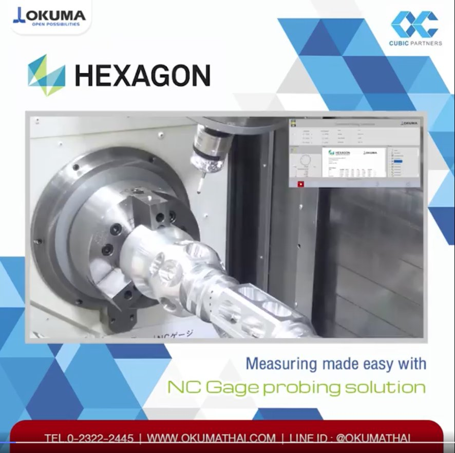 HEXAGON - Measuring made easy with NC Gage probing solution.